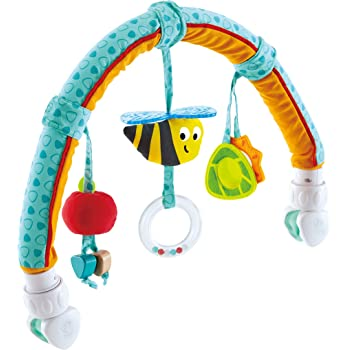 Hape Garden Friends Play Arch| Infant Crib Play Set Hanging Toys, Stroller and Car Seat Pram Toy Suitable for Children 0-5 Month Old, Multicolor
