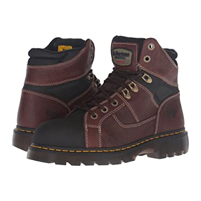 Dr. Martens Ironbridge Tec-Tuff Steel Toe 8-Tie Boot (Teak Pitstop) Work Lace-up Boots