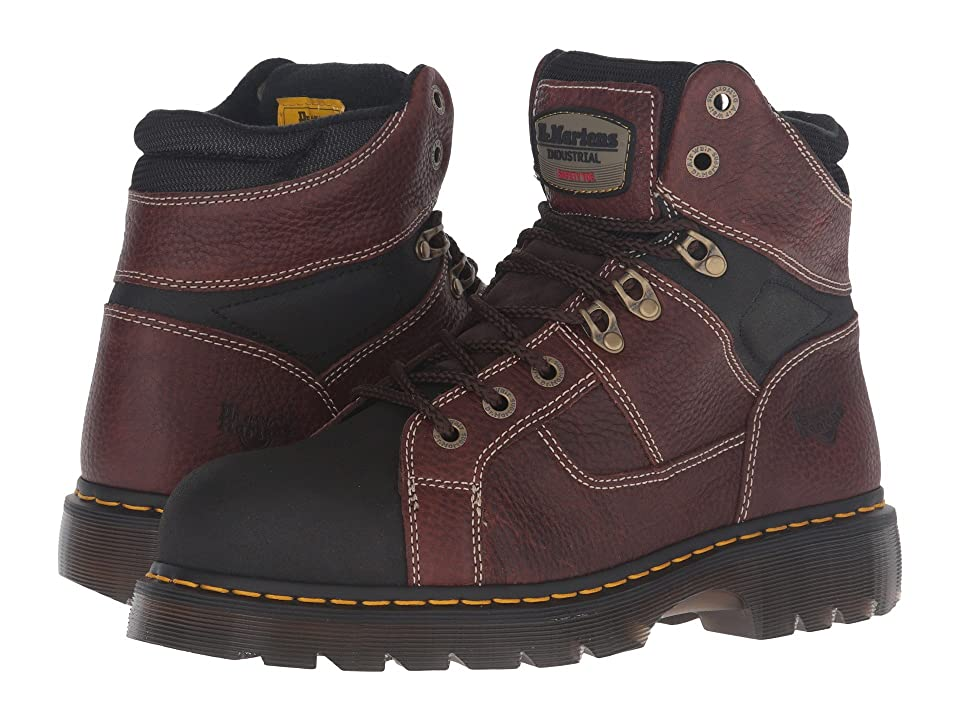 Dr. Martens Ironbridge Tec-Tuff Steel Toe 8-Tie Boot (Teak Pitstop) Work Lace-up Boots