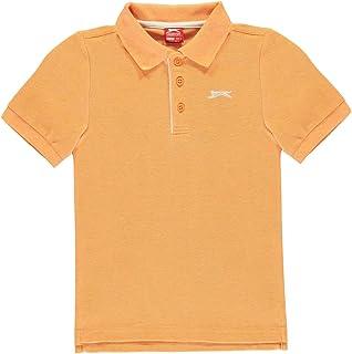 Slazenger Kids Boys Plain Polo Shirt Junior Classic Fit Tee Top Short Sleeve