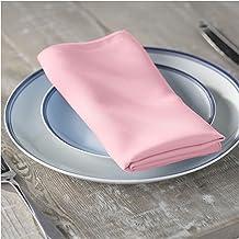 LA Linen 10-Pack Polyester Poplin Napkins 17 by 17-Inch, Light Pink