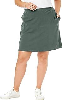Woman Within Women's Plus Size Stretch Cotton Skort