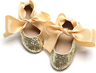 Sponsored Ad - THEE BRON Flower Girl's Dress Shoes Bow Mary Jane Ballerina Flat in Party Wedding