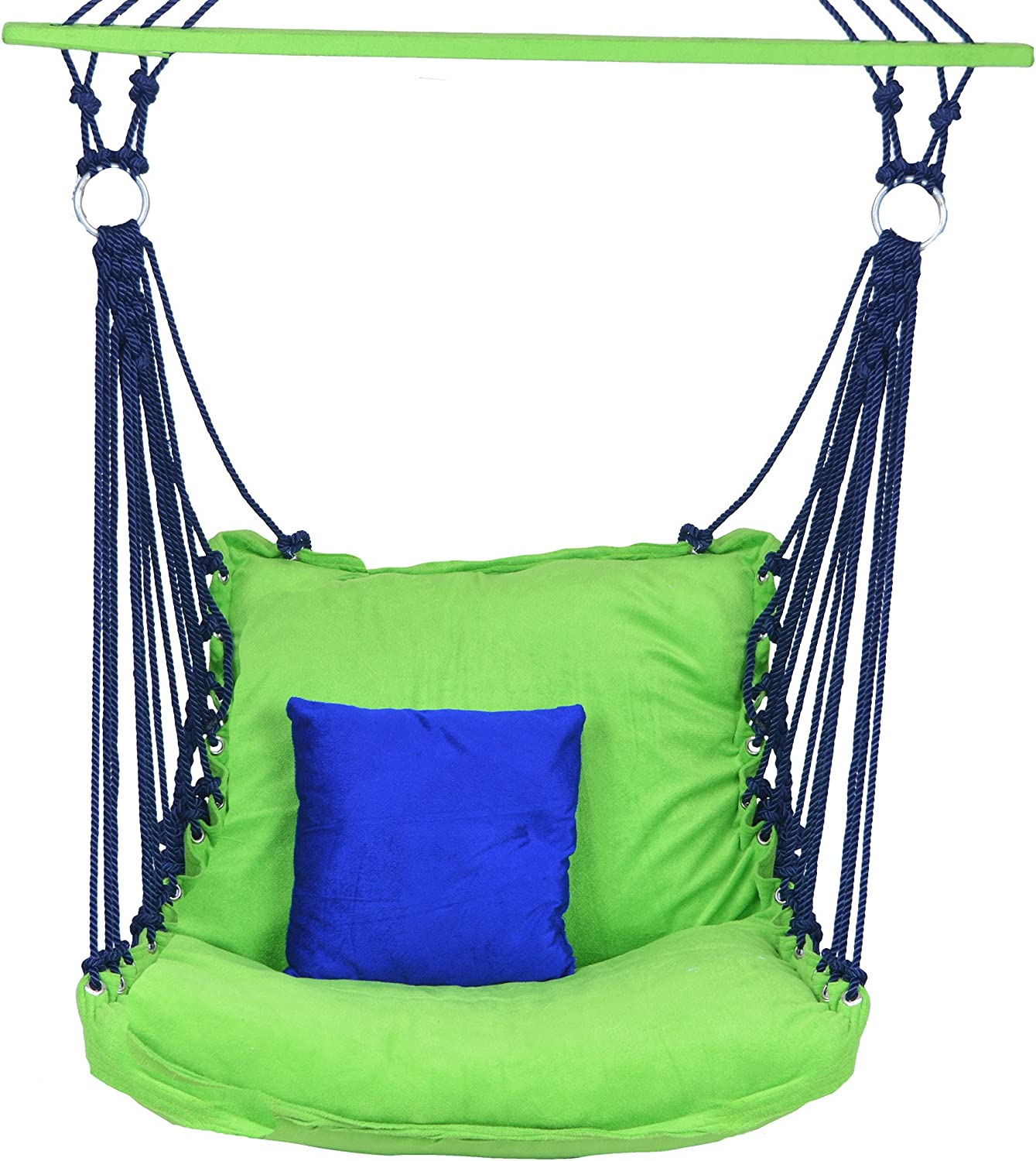 A & E Comfortable Green bluee Cotton Swing
