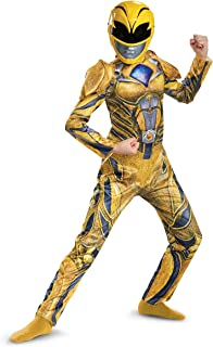Disguise Ranger Movie Deluxe Costume, Yellow, Large (10-12)