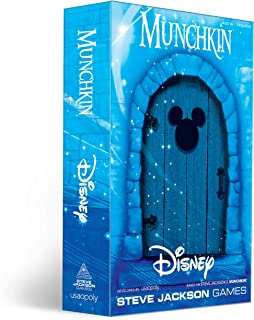 USAOPOLY Munchkin: Disney Card Game/Munchkin Game Featuring Disney Characters and Villains/Officially Licensed Disney Card Game/Tabletop Games & Board Games for Disney Fans