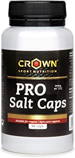 Crown Sport Nutrition Salt Caps - 60 Capsulas de sales minerales electrolitos vegana recuperador pastillas vegan hidratacion isotonico isotonica