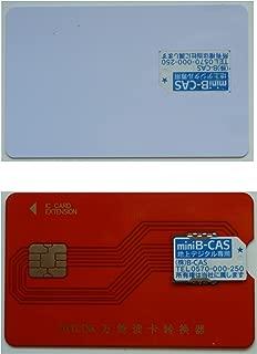 PB-MC02 と『これ1枚で2つの機能 MINI B-CAS変換アダプター 兼 B-CAS カード テンプレート』のセット
