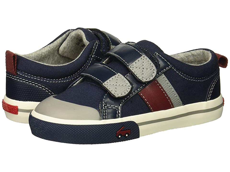 See Kai Run Kids Russell (Toddler/Little Kid) (Navy/Red) Boys Shoes