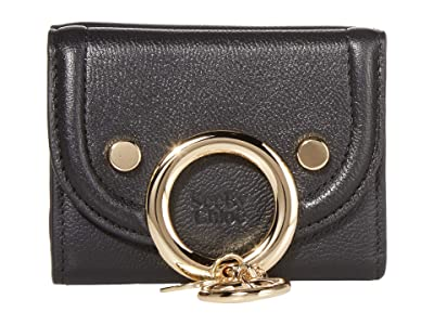See by Chloe Mara Compact Wallet (Black) Handbags
