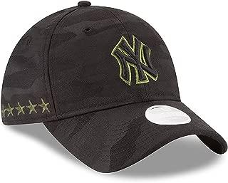 Women 's Authentic New York Yankees Memorial Day 9TWENTY Adjustable Hat - Black/Camo