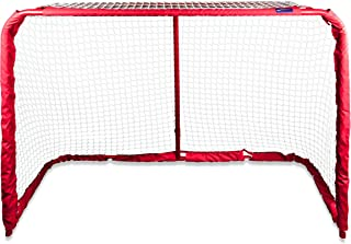 Pro Guard Official Hockey Goal   4 x 6 Foot Heavy Duty Hockey Net for Street, Ice, and Roller Hockey   Hockey Training Equ...