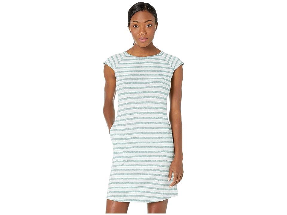 NAU Kanab Cap Sleeve Dress (Jade Stripe) Women