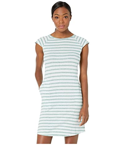 NAU Kanab Cap Sleeve Dress (Jade Stripe) Women