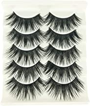 1 Box/Lot 3D False Eyelashes MZ BEAUTY Luxurious Fluffy Messy Cross Long 5 Pairs Fake Eye Lashes GF29