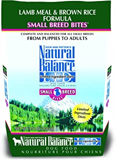 Natural Balance Limited Ingredient Diets Small Breed Bites Dry Dog Food, Lamb Meal And Brown Rice Formula, 4.5-Pound