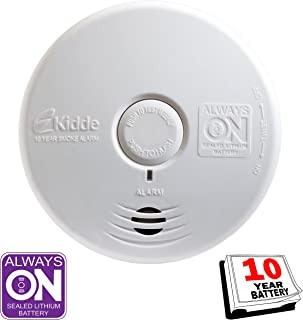 Kidde 21010170 P3010K-CO Worry-Free Kitchen Photoelectric Smoke and Carbon Monoxide Alarm with 10 Year Sealed Battery
