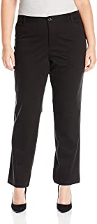 Women's Plus Size Straight Casual Twill Pant