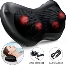 Dr Physio (USA) Shiatsu Cushion Full Body Massager With Heat For Pain Relief (Black)