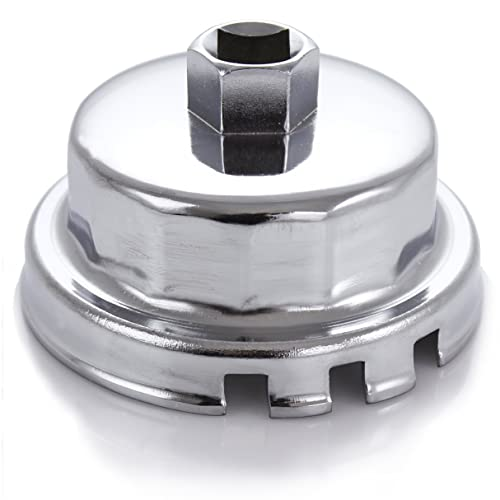 T1A Toyota /& Lexus 4 Cylinder Oil Filter Wrench Fits Prius Matrix Rav4 Auris Corolla Axio Fielder Super Strong Aluminum Alloy for Tough to Loosen Over Tightened Filters Fits 3//8 /& 1//2 Drive