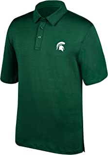 NCAA Men's Michigan State Spartans Yarn Dye Striped Team Polo Shirt, X-Large, Forest Green