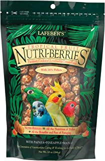 LAFEBER'S Tropical Fruit Nutri-Berries Pet Bird Food, Made with Non-GMO and Human-Grade Ingredients