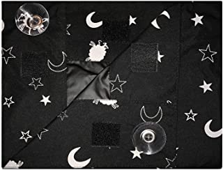 EZ Slumber Travel Blackout Curtains- Room Darkening Shades - Portable and Easy to Install to a Window with Strong Suction ...