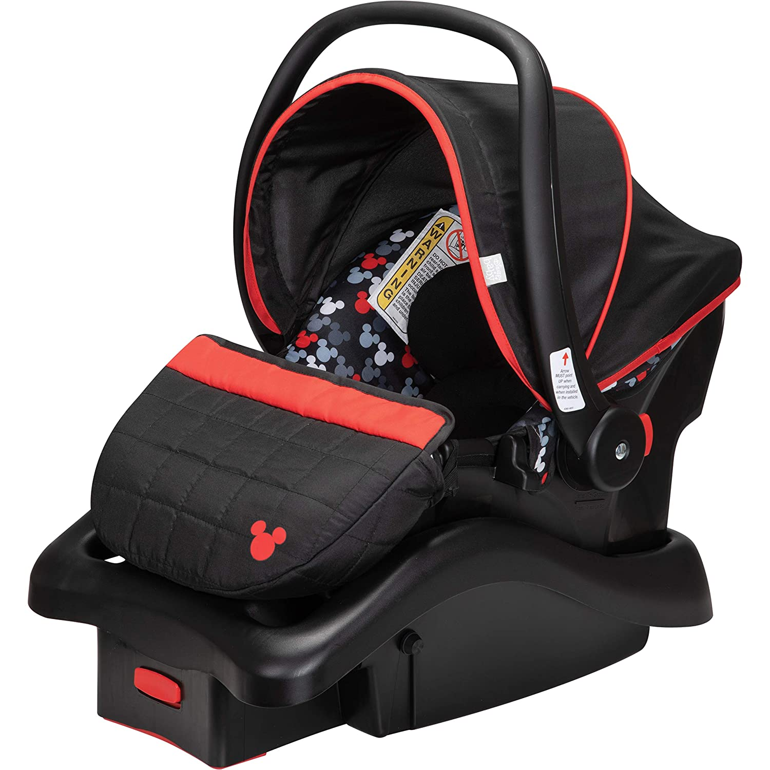 Disney Light 'N Comfy 22 Luxe Infant Car Seat, Mickey Crush