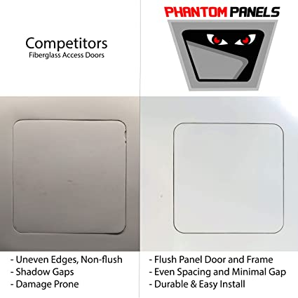 Lift /& Shift 12 x 24 Radius Corner GFRG Drywall Access Door Phantom Panel