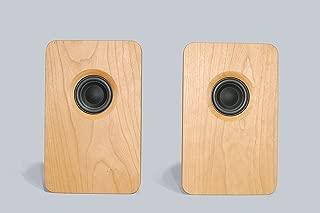 宗七音響 model 216 デスクトップパッシブスピーカー(チェリー) 2台1組 総無垢材 オイル仕上げ デンマーク Scan Speak社製ドライバー搭載 オリジナルスピーカーケーブル付き
