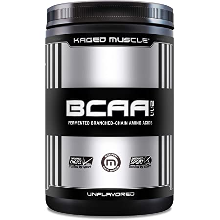 KAGED MUSCLE, Fermented BCAA Powder, Plant Based, Non-GMO, Supports Protein Synthesis, Vegan Friendly Branched Chain Amino Acids, Aminos, BCAAs, Unflavored, 72 Servings, 14.1 Ounce