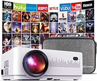 DBPOWER L21 LCD Video Projector, 4200L 1080P 1920x1080 Supported Full HD Mini Movie Projector with HDMIx2/USB/SD/AV Ports,...