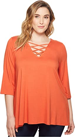 Plus Size Crisscross Top