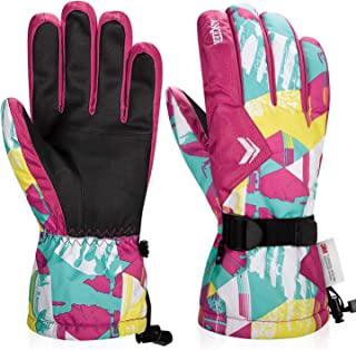 Ski Gloves,Winter Waterproof Snowboard 3M Thinsulate Cold Weather Warm Snow Snowmobile Gloves for Men Women Kids