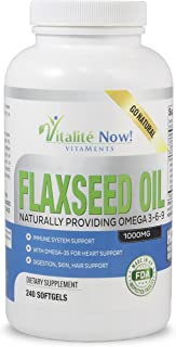 Up Size Best Organic Flaxseed Oil Softgels - 1000mg Premium, Virgin Cold Pressed from Flax Seeds - Hair Skin & Nails Support - Omega 3-6-9 Supplement - 240 Count - 8 Month Supply!
