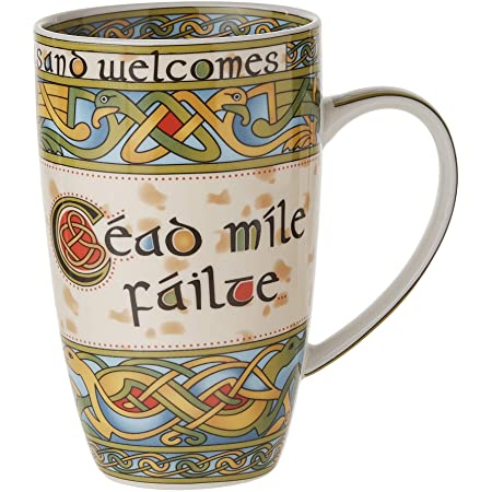Celtic Knot Claddagh Symbol Irish Coffee Mug 12-ounce