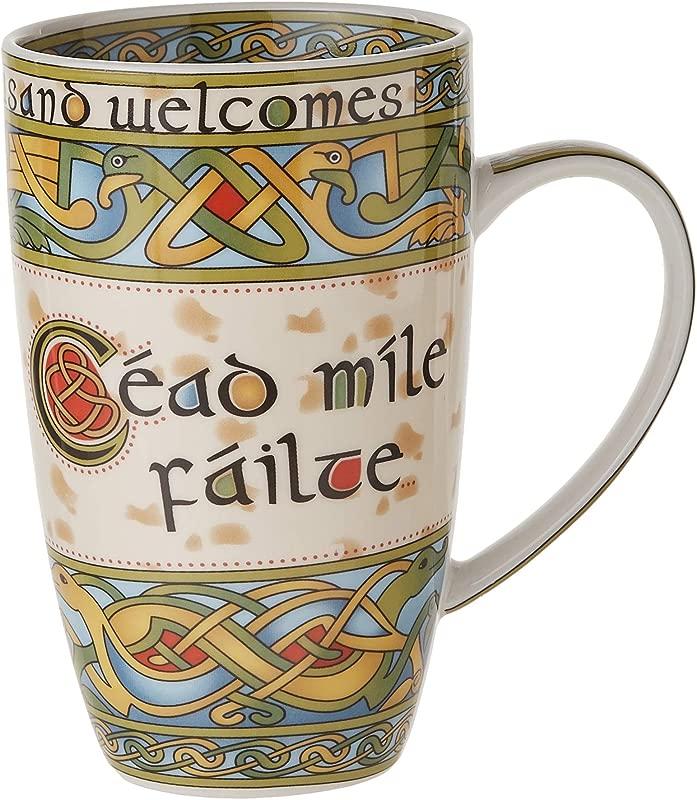 Irish Weave Ceramic Mug With By Clara Crafts