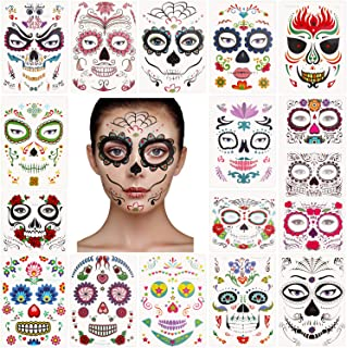 Best skull face tattoo temporary Reviews