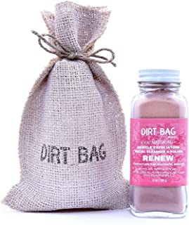 Dirt Bag Beauty Renew Gentle Exfoliating Daily Cleanser – Powder Anti-Aging Cleanser to Even Out Skin Tone, Cleanse, Rejuvenate, Detoxify and Smooth All Skin Types - Organic, Vegan, Cruelty-Free, 4 oz