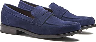 Mens Dress Shoes, Black Penny Loafers for Men Goodyear Welted
