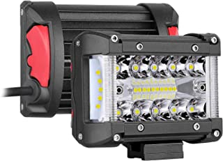 Side Shooter LED Lights, SWATOW 4x4 2pcs 120W 4 inch LED Pods Side Shooter Off Road Driving Lights LED Work Lights Flood Spot Combo Lighting for Truck ATV UTV Jeep Pickup Boat