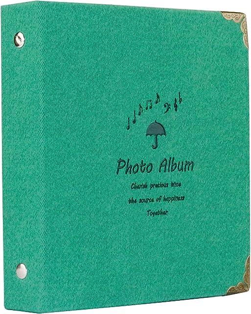 Brappo 100 Bolsillos Instax Mini álbum de Fotos para Fujifilm Instax Mini 7s 8 8+ 9 25 70 90 / Polaroid PIC-300P / Polaroid Z2300 película con Pegatinas Coloridas (100 Bolsillos Verde)
