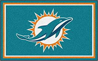 FANMATS NFL Miami Dolphins Nylon Face 4X6 Plush Rug