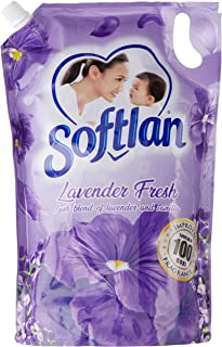 Softlan Anti Wrinkles Lavender Fresh (Purple) Fabric Softener Refill, 1.4 liters