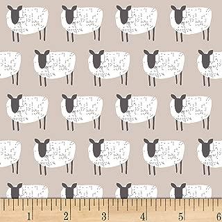 Studio E Fabrics Wildflower Farm Sheep Fabric, Light Gray, Fabric By The Yard