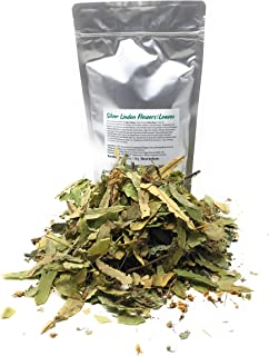 Silver Linden Flowers And Leaves For Herbal Tea / Ayurveda - Ingredients: 100% Tilia Tomentosa - Net Weight: 1.05oz / 30g ...