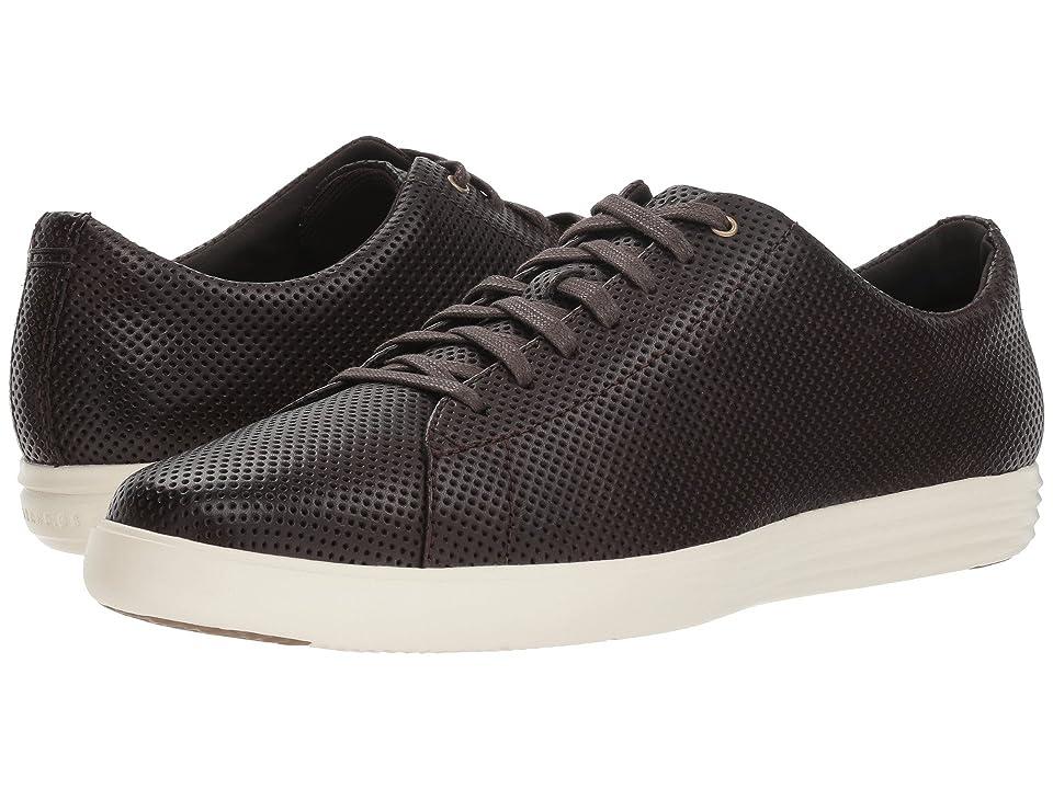 Cole Haan Grand Crosscourt Sneaker (Dark Roast Perf Leather/Optic White) Men