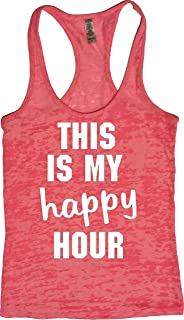 Orange Arrow Womens Workout Tank - This is My Happy Hour - Zumba Burnout Tops
