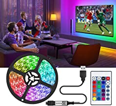TV Led Lights,Tv Led Backlight USB,LED Strip Lights 7 ft voor TV 46-60 inch, LED touw lichten voor slaapkamer met afstands...
