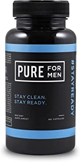 Pure for Men - The Original Vegan Cleanliness Fiber Supplement, 60 Capsules - Proven Proprietary Formula